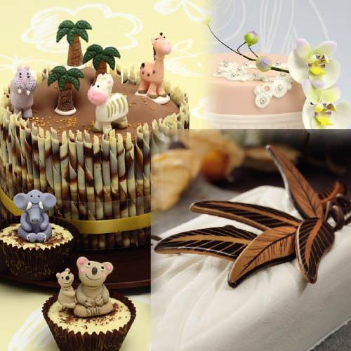 Decorazioni in cioccolato per pasticceria