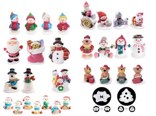 decorazioni natalizie in zucchero per pasticceria e gelateria