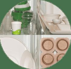 Packaging e accessori Biocompostabili per gelateria e pasticceria