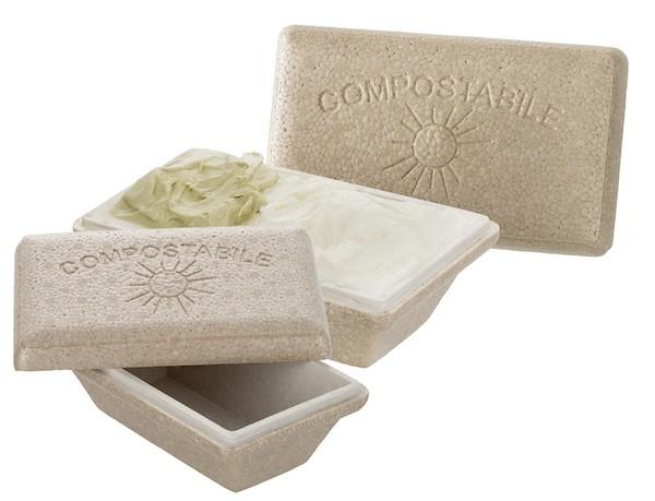 vaschetta gelato in materiale biocompostabile